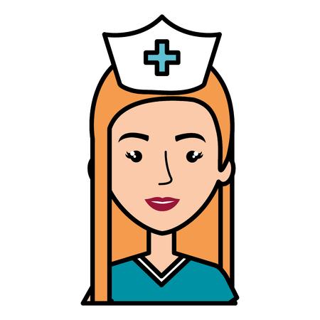 surgeon Professional woman of health vector illustration design Ilustração