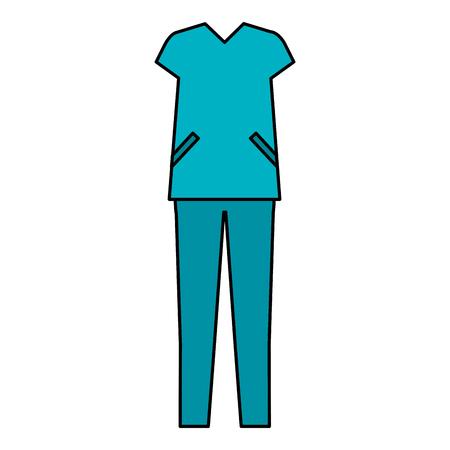 外科医スーツ分離アイコン ベクトル イラスト デザイン