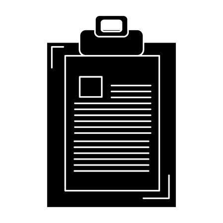 report icon: clipboard paper isolated icon vector illustration design Illustration