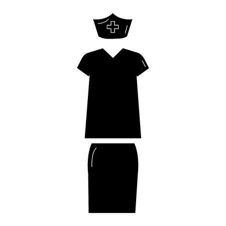 nursing clothes: nurse suit isolated icon vector illustration design Illustration