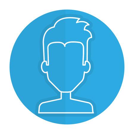 beautiful men: young man shirtless avatar character vector illustration design