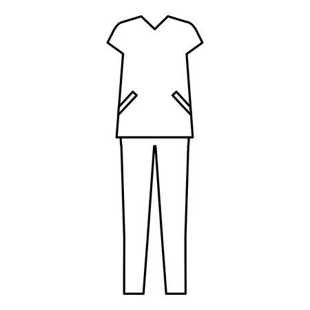 外科医スーツ分離アイコン ベクトル イラスト デザイン 写真素材 - 80783654