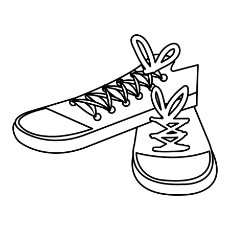 young shoes style icon vector illustration design Çizim