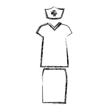 nursing clothes: Nurse suit vector Illustration