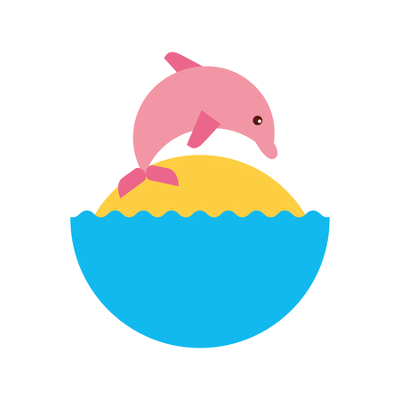 dolphin silhouette: Cute dolphin isolated icon vector illustration design