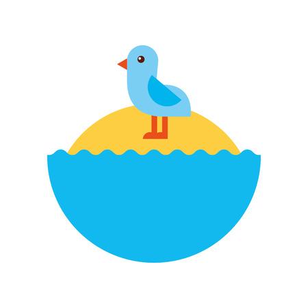 Cute bird sea icon vector illustration design Stock Vector - 80790073