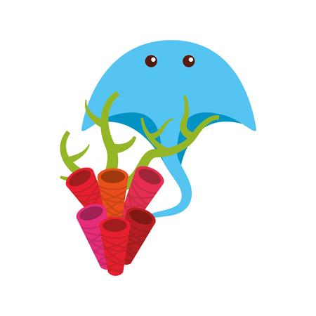 Marine stingray isolated icon vector illustration design Stock fotó - 80834377