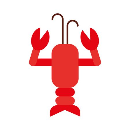 Cute lobster sealife character vector illustration design