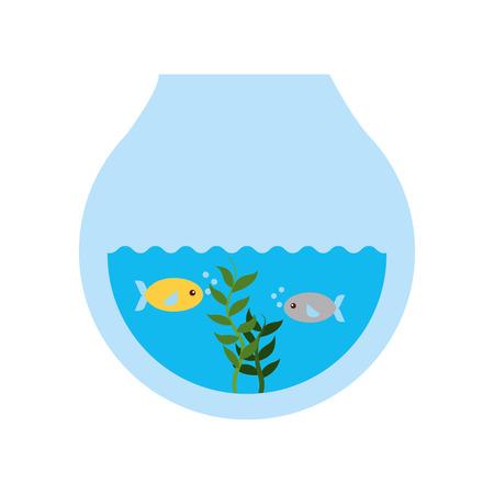 Fishes in aquarium icon vector illustration design