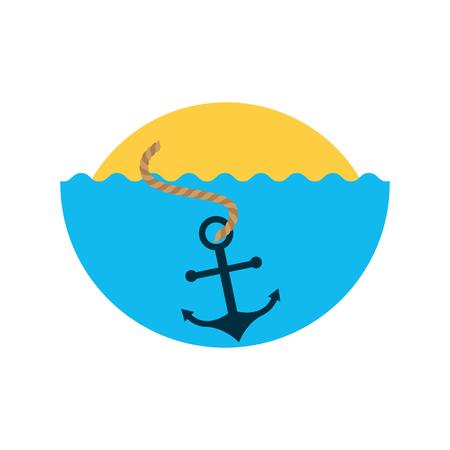flat iron: Sea anchor isolated icon vector illustration design Illustration