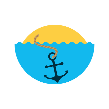 Sea Anker isoliert Symbol Vektor-Illustration Design Standard-Bild - 80790218