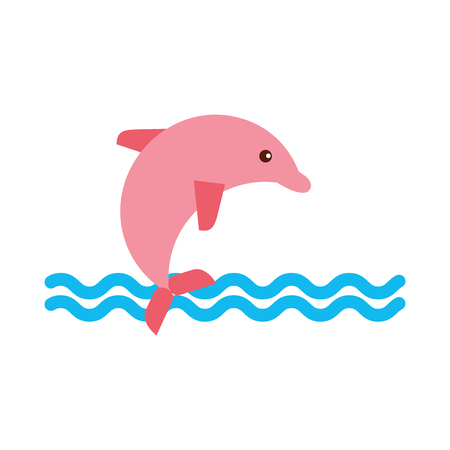 Cute dolphin isolated icon vector illustration design