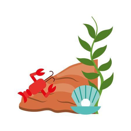 cute lobster sealife character vector illustration design Illustration