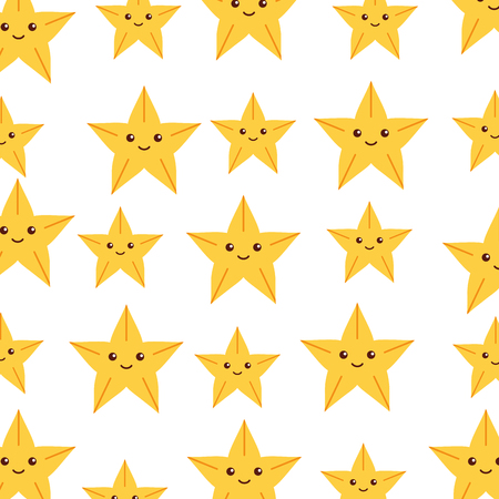 cute starfish pattern background vector illustration design