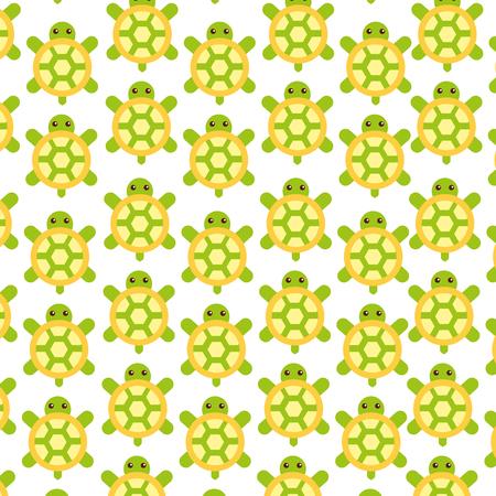Niedliches Schildkrötenmusterhintergrundvektor-Illustrationsdesign Standard-Bild - 80845486