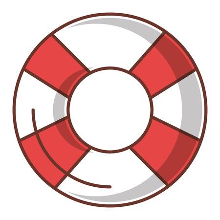 Float bagnino isolato icona illustrazione vettoriale di progettazione Archivio Fotografico - 80789741
