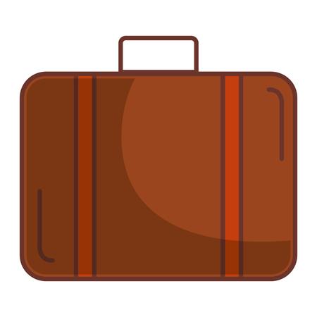 Van de het ontwerp vectorillustratie van het kofferreis geïsoleerde pictogram vector de illustratieontwerp
