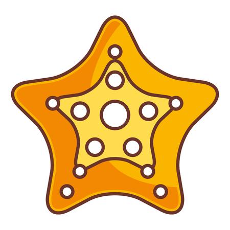 Starfish tropical summer icon vector illustration design Ilustrace