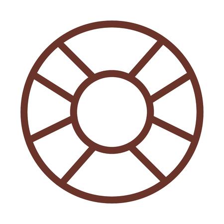 Float bagnino isolato icona illustrazione vettoriale di progettazione Archivio Fotografico - 80789775