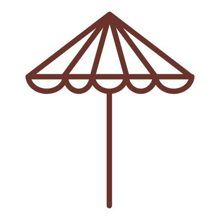 Ontwerp van de het pictogram het vectorillustratie van de strandparapluzomer Stock Illustratie