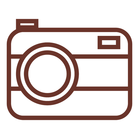 simple frame: Camera photographic isolated icon vector illustration design Illustration