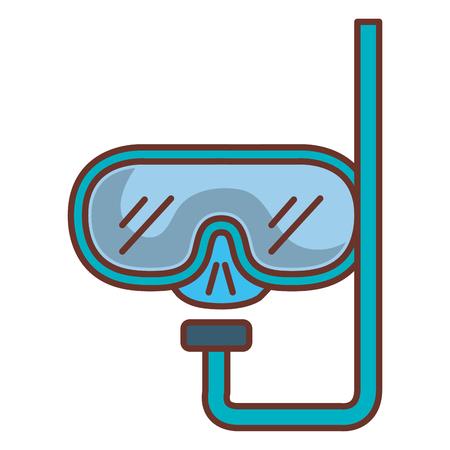 分離のアイコン ベクトル イラスト デザインをゴーグル ダイビング  イラスト・ベクター素材
