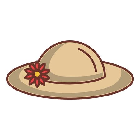 Sommer weiblichen Hut Symbol Vektor-Illustration Design Vektorgrafik