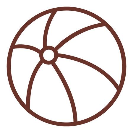 Diseño aislado del ejemplo del vector del icono de la playa del globo Foto de archivo - 80789809