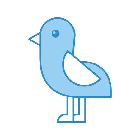 Cute bird sea icon vector illustration design Illustration