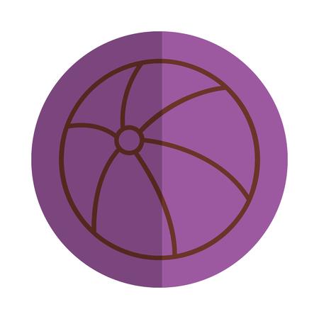 Balloon beach isolated icon vector illustration design Çizim