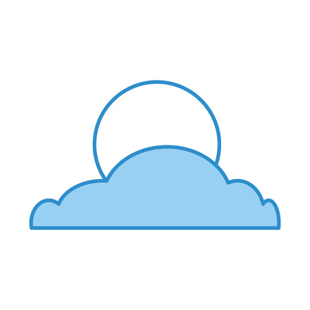 cloud with moon isolated icon vector illustration design