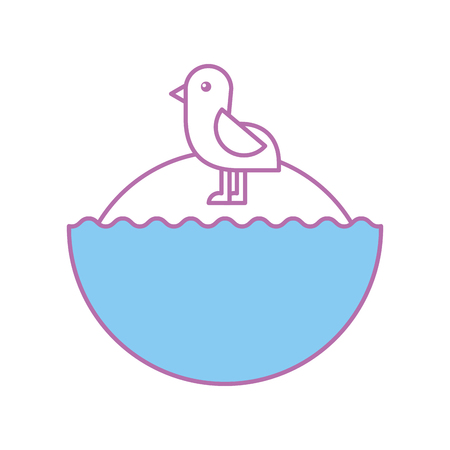 cute bird sea icon vector illustration design Stock Vector - 80834394