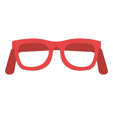 Eye glasses mode icoon vector illustratie ontwerp