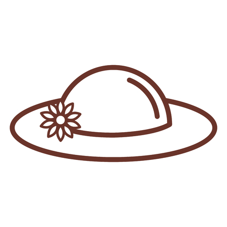 summer female hat icon vector illustration design