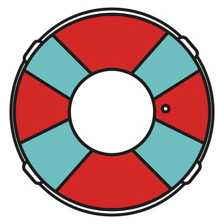 Progettazione dell'illustrazione di vettore dell'icona isolata bagnino del galleggiante Archivio Fotografico - 80791193