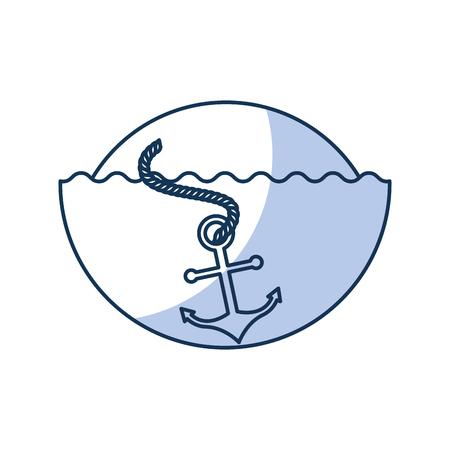 바다 앵커 격리 된 아이콘 벡터 일러스트 디자인 스톡 콘텐츠 - 80791686
