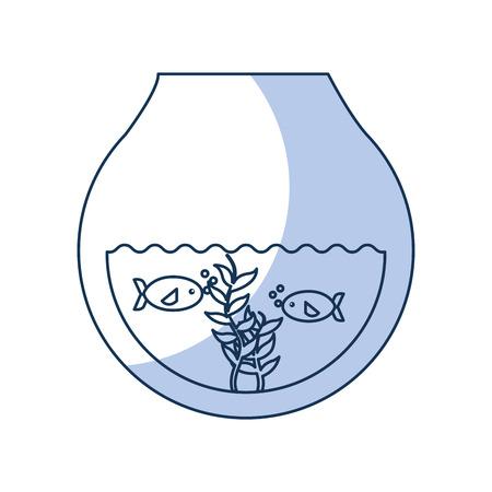 fishs in aquarium icon vector illustration design