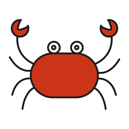 cute crab isolated icon vector illustration design Illustration
