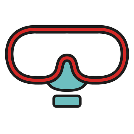 diving goggle isolated icon vector illustration design Illustration