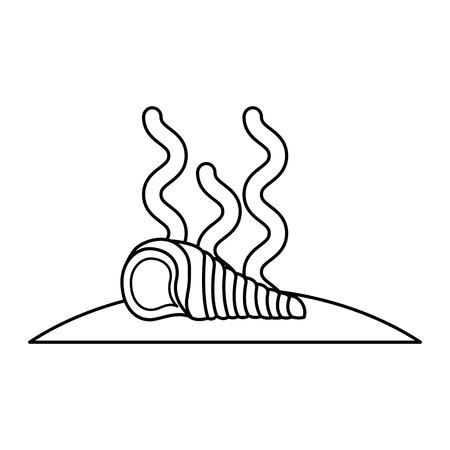 noix saint jacques: Escargot marin isolé icône illustration vectorielle design Illustration