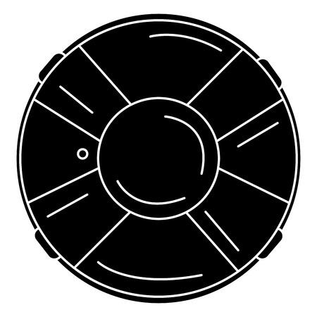 Progettazione dell'illustrazione di vettore dell'icona isolata bagnino del galleggiante Archivio Fotografico - 80791894