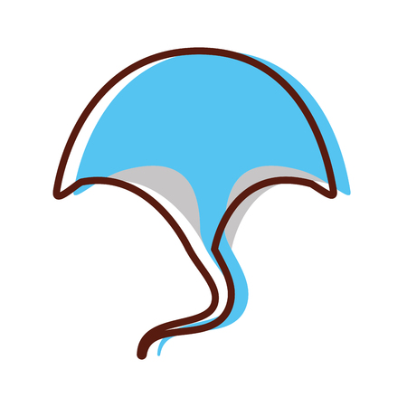 Marine stingray isolated icon vector illustration design