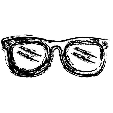 ocular: eye glasses fashion icon vector illustration design Illustration