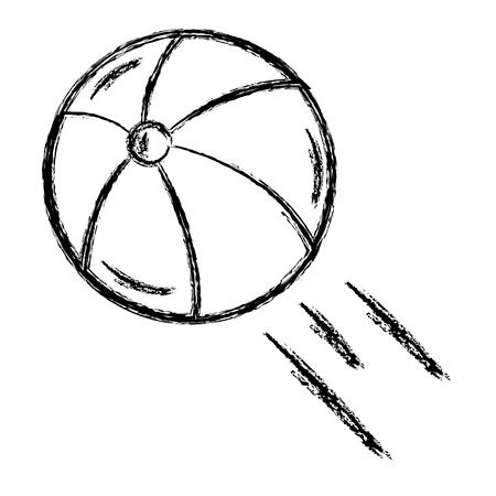 Praia balão isolado ilustração vetorial design Foto de archivo - 80791964