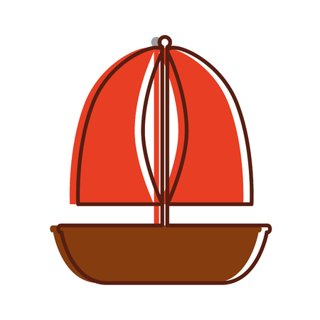 Sailboat marine isolated icon vector illustration design Stok Fotoğraf - 80790195