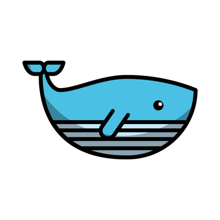 cute whale isolated icon vector illustration design