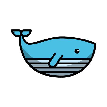 Niedlichen Wal isoliert Symbol Vektor-Illustration Design Standard-Bild - 80791978