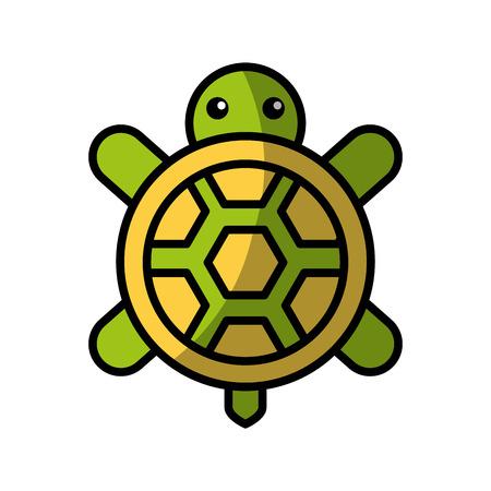 귀여운 거북이 절연 아이콘 벡터 일러스트 디자인 일러스트