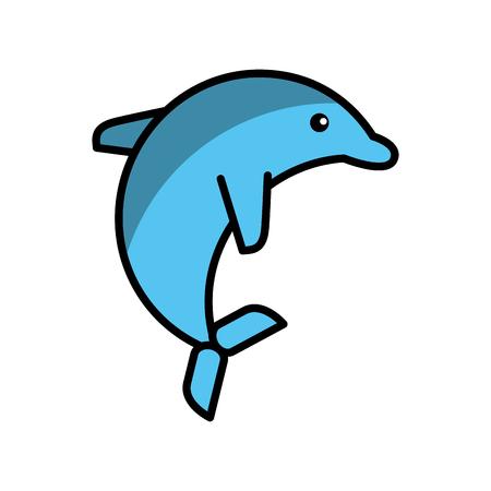 cetacea: cute dolphin isolated icon vector illustration design Illustration