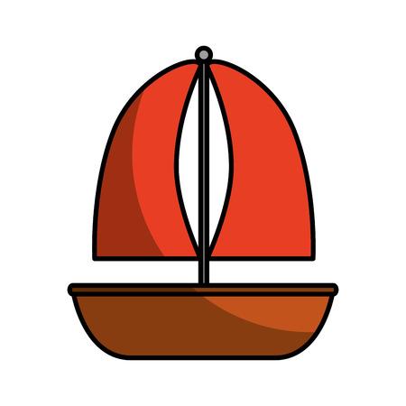 ヨット海洋隔離されたアイコン ベクトル イラスト デザイン 写真素材 - 80791972